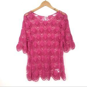 Ethyl | Scalloped Crochet Lace Blouse